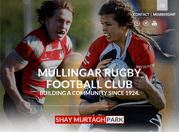 Mullingar Rugby Sportlomo website